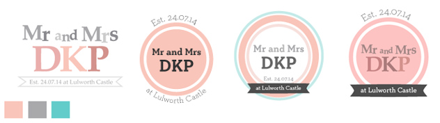 DKP Wedding Logo Design Process