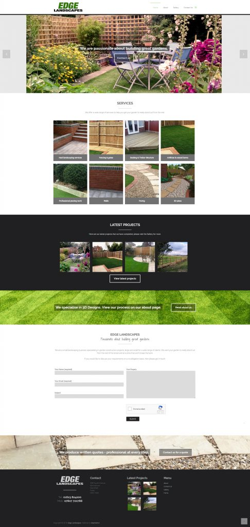 Edge Landscapes Website Design