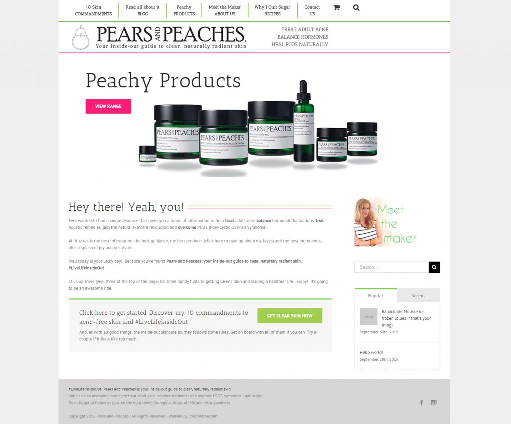 Pears and Peaches Website 1