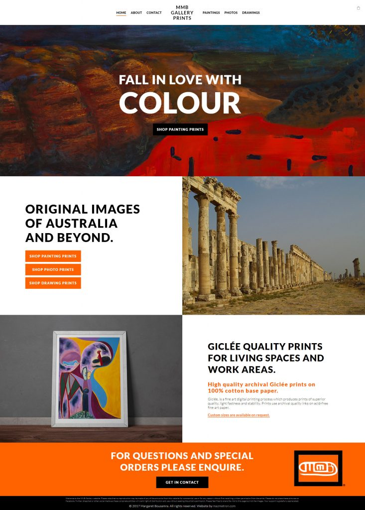 MMB Gallery Website Design
