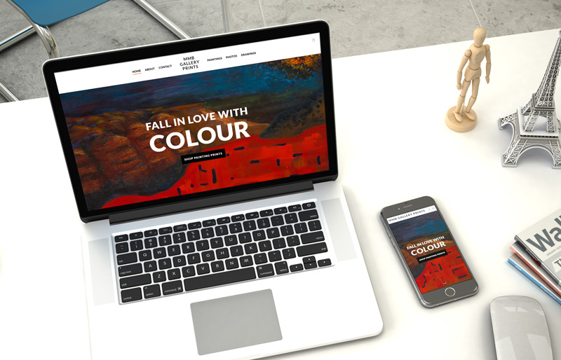 MMB Gallery Website Design Responsive