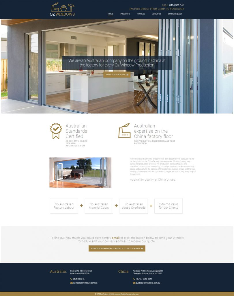 Oz Windows Website Design